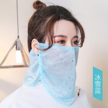 夏の日焼け止めマスク女性の日よけマスク首の顔をかばいます。夏マスクは顔の薄いベールで通気します。