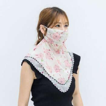 【買い合わせは8.8元でお願いします。】日焼け止めマスク春夏の日除けシート通気マスク自転車の紫外線防止スカーフで首回りの梅の花【ピンク】