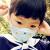 子供用マスク使い捨てスモッグ防塵カートン立体不織布防護男女子供用熊藍(0-5歳)30個セット
