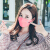 韓国VC秋冬の日焼け止めマスク女性用保温綿厚防塵スモッグ通気性と吸気性のある女性用ファッションを洗えます。冬スタイル防煙スモッグPM 2.5【ブラック】フリーサイズです。