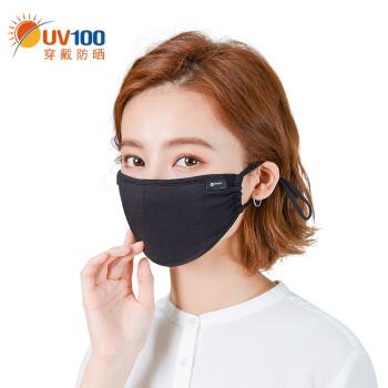 UV 100日焼け止めマスク女性保温冬男子通気顔マスク92733暗夜黒F