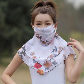 卡蘭薇面紗マスク日烧け止め百変化小スカーフ屋外旅行韓国版ペアレルボス新型潮紡マスク