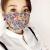 春と秋のソルトマスク女性のシルクは夏に通気します。喬其紗日焼け止め防風防アレルギーマスクは白い二重になります。